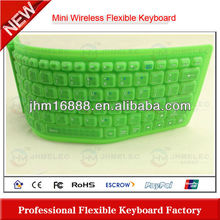 hot sell for ipad rubber bluetooth keyboard