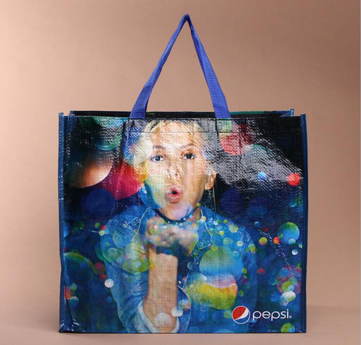 Promotional Cheap Customized Color printed Bopp laminated pp woven bag