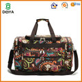 2017 Hot sales custom flower printing travel duffel bag luggage bag