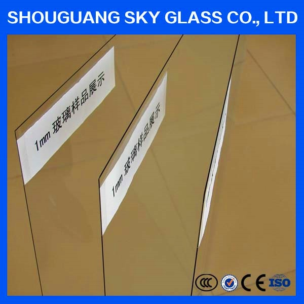 1mm Ultra thin clear sheet glass prices mirror