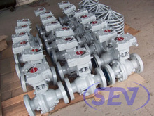 API Reduce bore ball valve cast steel flange connection
