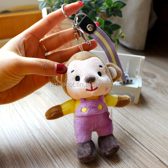 HI EN71 Cute Plush Monkey Custom Made Keychains