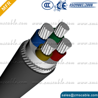 4 cores 35mm2+10mm cu pvc+al Self supporting cable