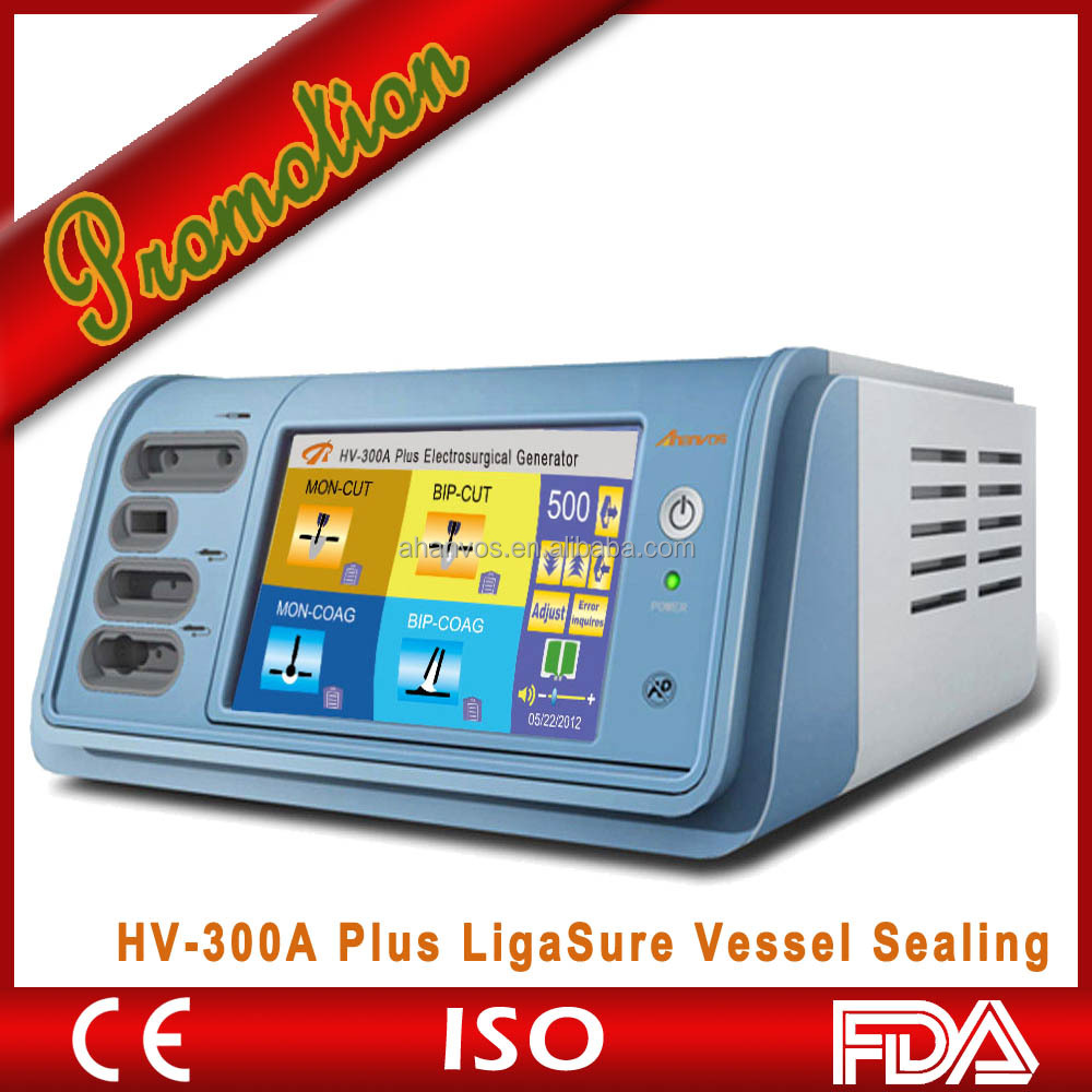 High frequency electrosurgical cautery unit with ligasure vessel sealing system