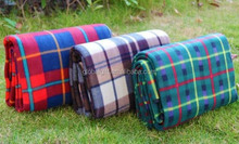 Eco-friendly Folding Waterproof Flannel Picnic Blanket For Beach Camping
