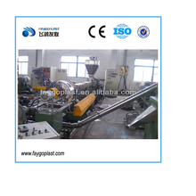 Double stage PP PE waste plastic pelletizing line