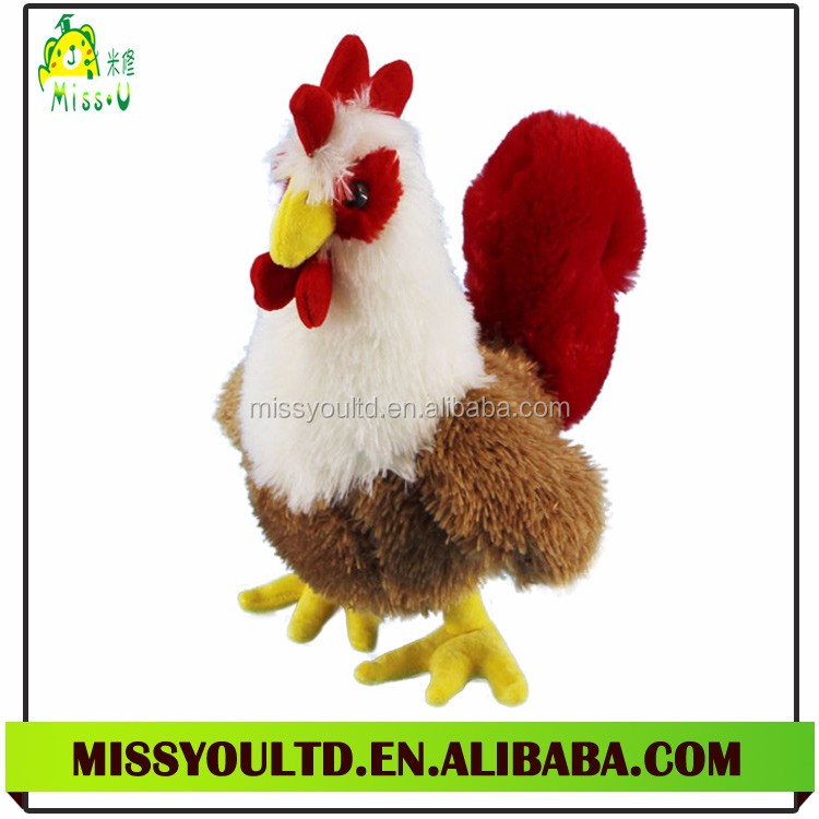 Plush Chicken Mascot Toy New Cock Rooster Animal Toys