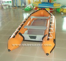 Multifunctional inflatable boat with aluminum floor