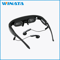 Virtual Video Glasses Personal cinema eyewear 72inch Wide Screen Mobile Built-in 4GB flash memory video 3d glasses
