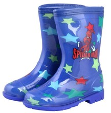 Blue kids rain boots,transparent rain pvc boot,pvc rain boots with star