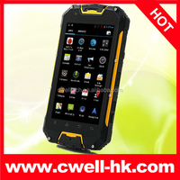 4,5 inch Android 4.2 MTK6589 Quad Core Walkie Talkie rugged waterproof cell phone