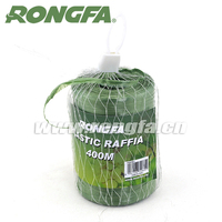 400 m roll factory supply green color plastic pp raffia raffia string rope
