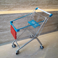 Customize unfolded grocery store shopping cart with seat