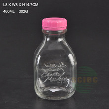 plastic lid Sealing Type and High White Glass,Glass Material 500ml glass milk bottle