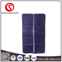 Fashion color fabric and see-through portable foldable garment bag / garment packaging bag