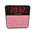 customize speaker t1, wireless speaker with fm radio, alarm clock portable speaker