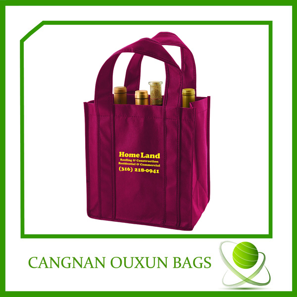 Durable in use liquor bottle wine bags