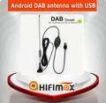 Android dab antenna car dab adaptor for car radio with USB dongle