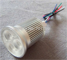 3*4W RGBW(warm white) LED spotlight;DC12V input;with 5 wire PWM driver inside;size:D50*88mm;45degree