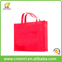 Disposable Pink Tote Bag Handled Non Woven Bag For Shopping