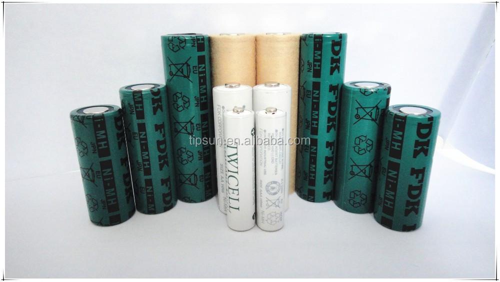 Authentic 1.2 V 4500 mAh bateria FDK HR-4/3FAU 18670 Ni-MH Bateria Recarregável para Dispositivos Médicos