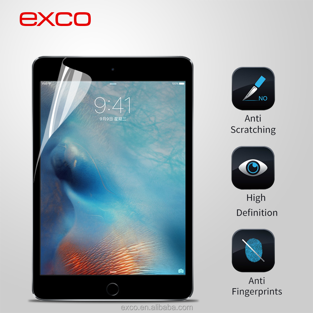 2015 hot new product EXCO clear vision transparent screen protector for iPad mini 4