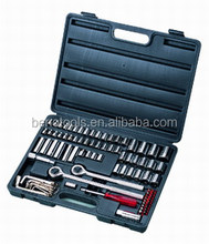 Mechanical workshop hand tool ,96 piece socket wrench set , hand tool case for repairing motorcycle