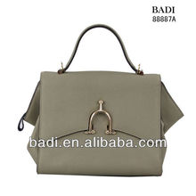 2013 trendy napa hard leather bags grey comely handbags
