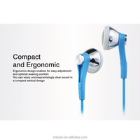 Fashion wired earbuds mobile phone headset