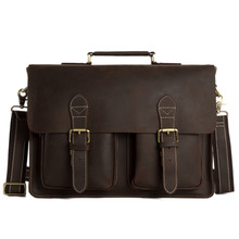 Genuine Leather Briefcase Messenger Bag Laptop Bag Men's Handbag Business Briefcase 0344