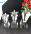 Popular Cheap Art Triangle K9 Star Crystal Trophies Awards