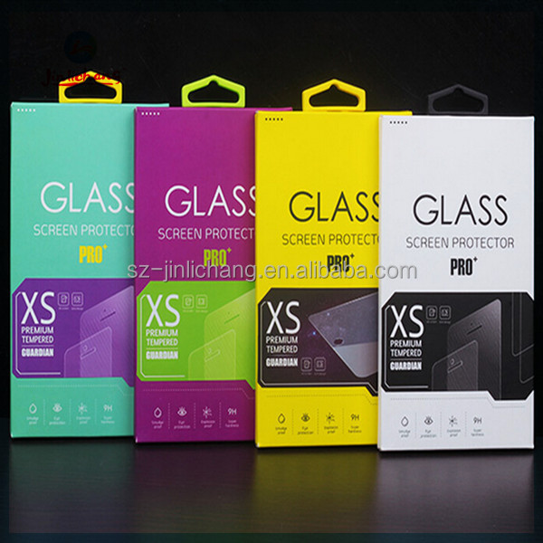 high quality retail screen protector tempered glass packaging box