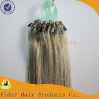 Fast Delivery Top Quality Double Loop Remy Hair Grey Human Hair