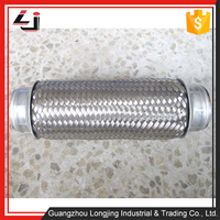 auto exhaust system components exhaust flexible pipe/exhaust flexible joints by Stainless steel material