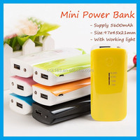 Hot!The Cheapest New Second Generation Fish Mouth Type Portable 5600mAh Power Bank With Flashlight Used For Smart Mobile Phones