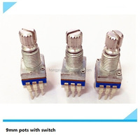 9mm rotary potentiometer momentary push switch with switch