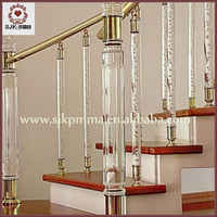 Indoor Prefab Acrylic Stair Railing Crystal /Glass Balcony Stairs Handrails