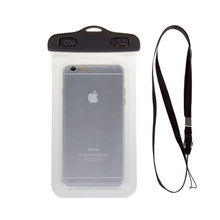 clear sensitive screen pvc mobile waterproof bag/pouch with window for take pictures