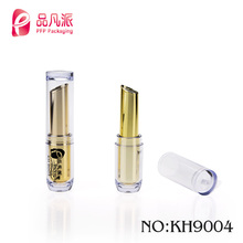 Wholesale empty plastic clear surface cylindrical mini lip balm tube with safety material