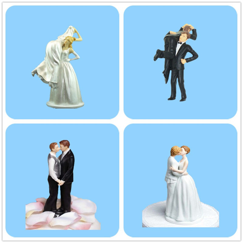 Hot Selling Wedding Couple Resin Wholesale Love Cake Topper figurine Wedding