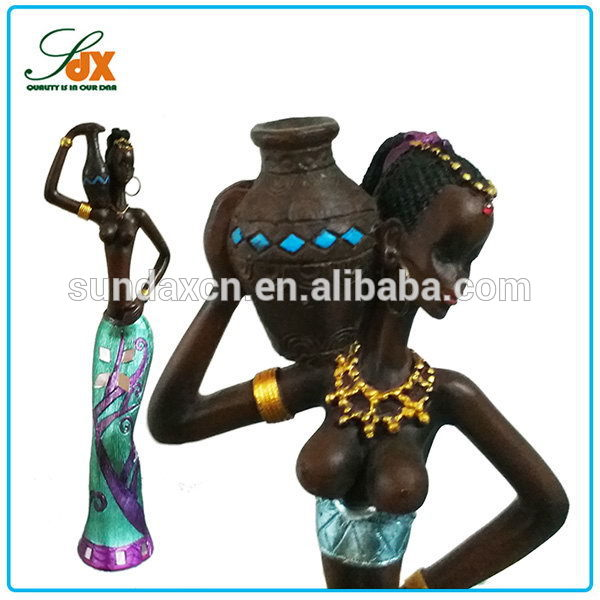 Cheap Best Selling Resin Little Girl Nude Figurine / Resin African Woman Statue / Naked Sexy Woman