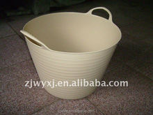 flexible plastic garden buckets&tubs,small plastic pail,new product