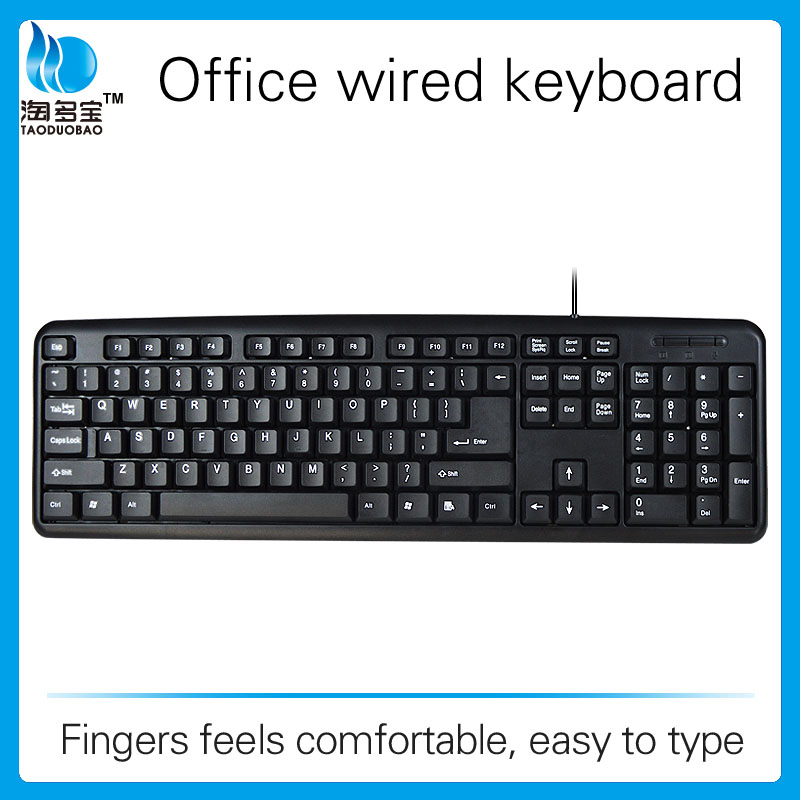 Wholesale high quality cheap price wired pc computer keyboard