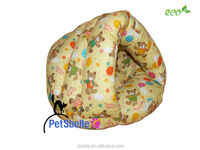 All cotton filling covered cat dog bed
