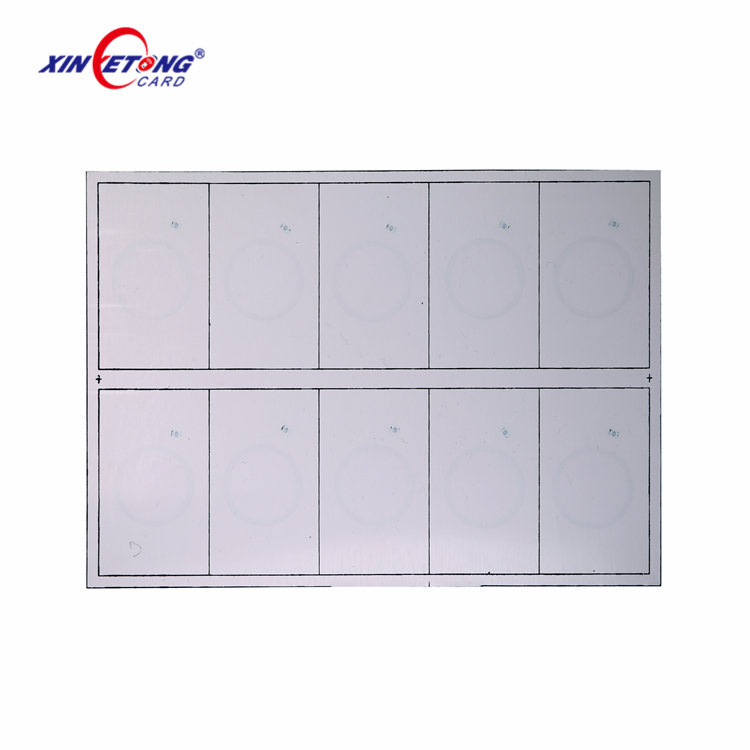 Customize Manufacturer LF HF UHF Hot selling PVC inlay T5577 F08 Alien H3 Proximity RFID card PVC Sheet
