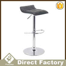 General use adjustable swivel bar chairs with round seat and footrest