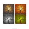Contemporary Handmade Abstract Trees Oil Painting