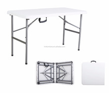 4FT folding in half table plastic bar table stackable table