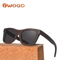 Brown stained 100% real wood Smoke lens custom logo bamboo sunglasses