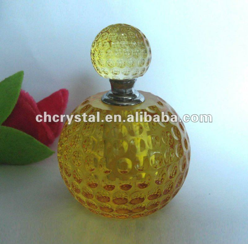Peronsalized Crystal Golfball Perfume bottle , personalized golf perfume bottle
